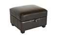 Baxton Studio Agustus Brown Leather Storage Ottoman Black Bi-cast Leather Storage Ottoman, BSA-136-001-Ottoman, Baxton Studio Affordable Modern Design
