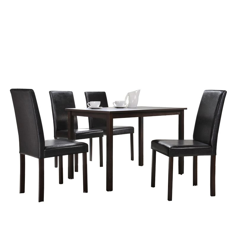 Baxton Studio Andrew 5 Piece Modern Dining Set1 Dining Table + 4 Dining  Chairs Style