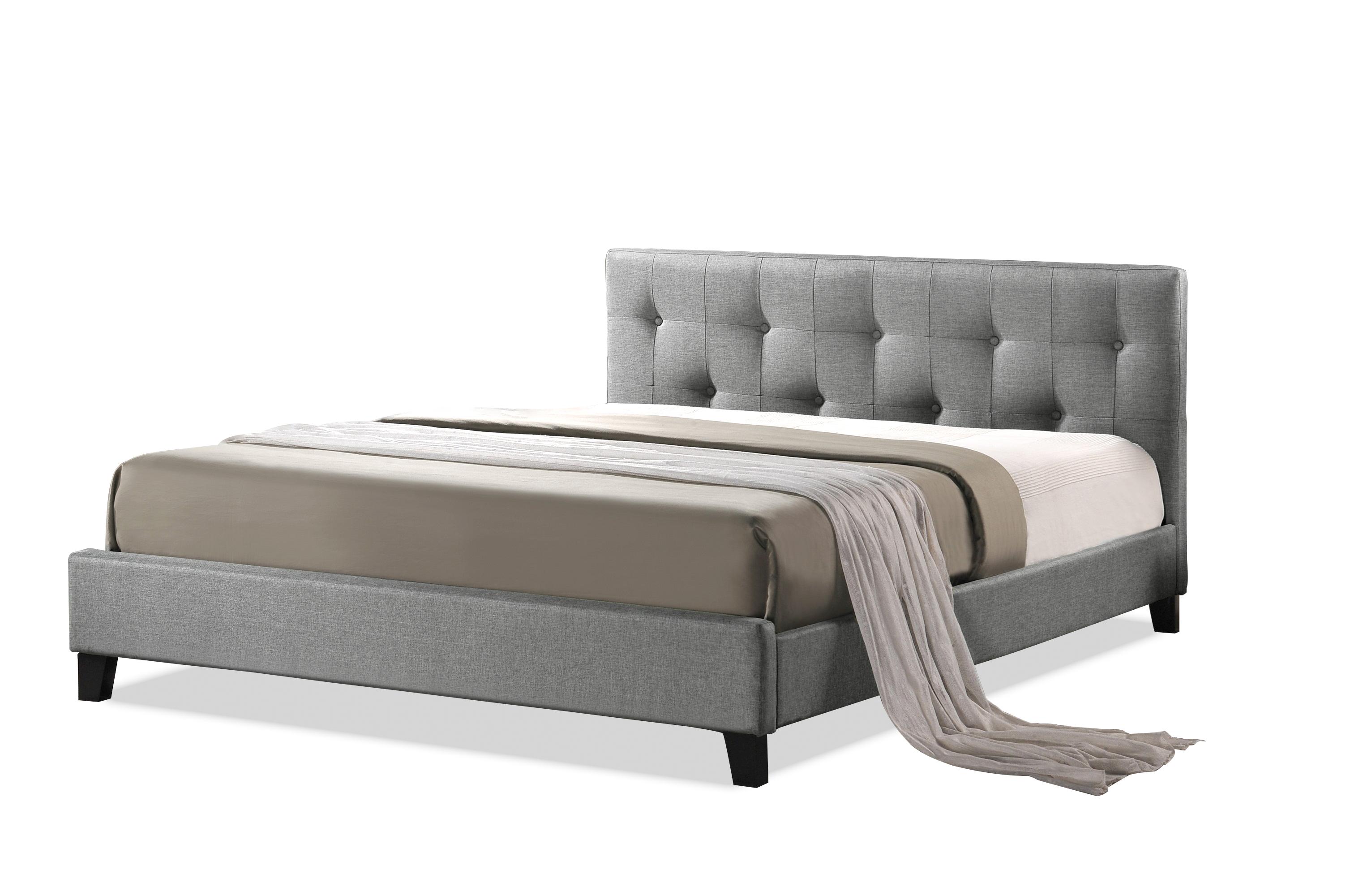 Beautiful Baxton Studio Annette Gray Linen Modern Bed With Upholstered Headboard Full  Size Annette Gray Linen.