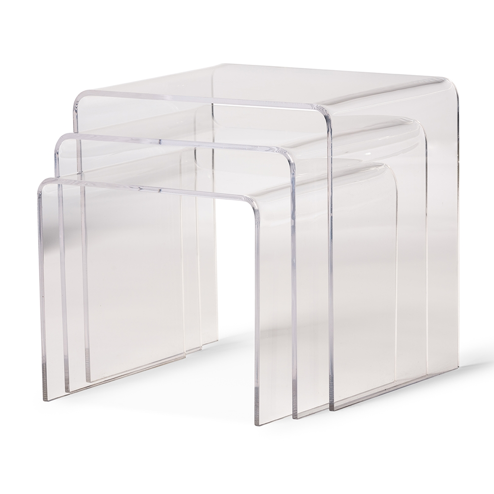 Aville clear acrylic nesting tables display stands 3 pc set aville clear acrylic nesting tables display stands 3 pc set affordable modern design baxton studio watchthetrailerfo