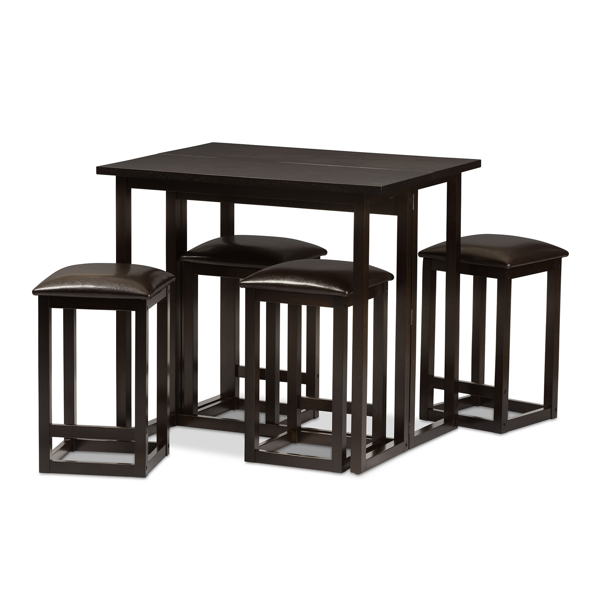 Baxton Studio Leeds Brown Wood Collapsible Pub Table Set Leeds Brown Wood Collapsible Pub Table Set  sc 1 st  Baxton Studio & Bar Table Sets | Bar Furniture | Affordable Modern Design | Baxton ...