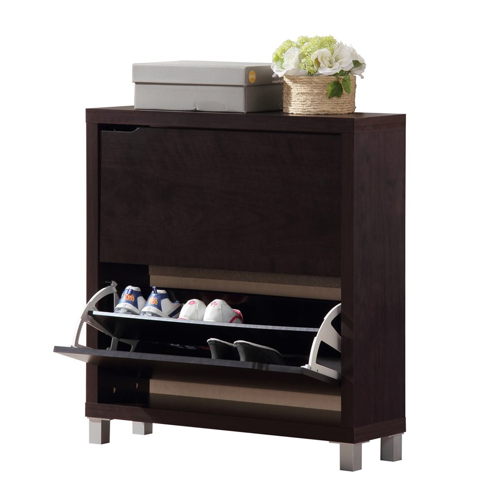 Awesome Baxton Studio Simms Dark Brown Modern Shoe Cabinet | Affordable Modern  Design | Baxton Studio