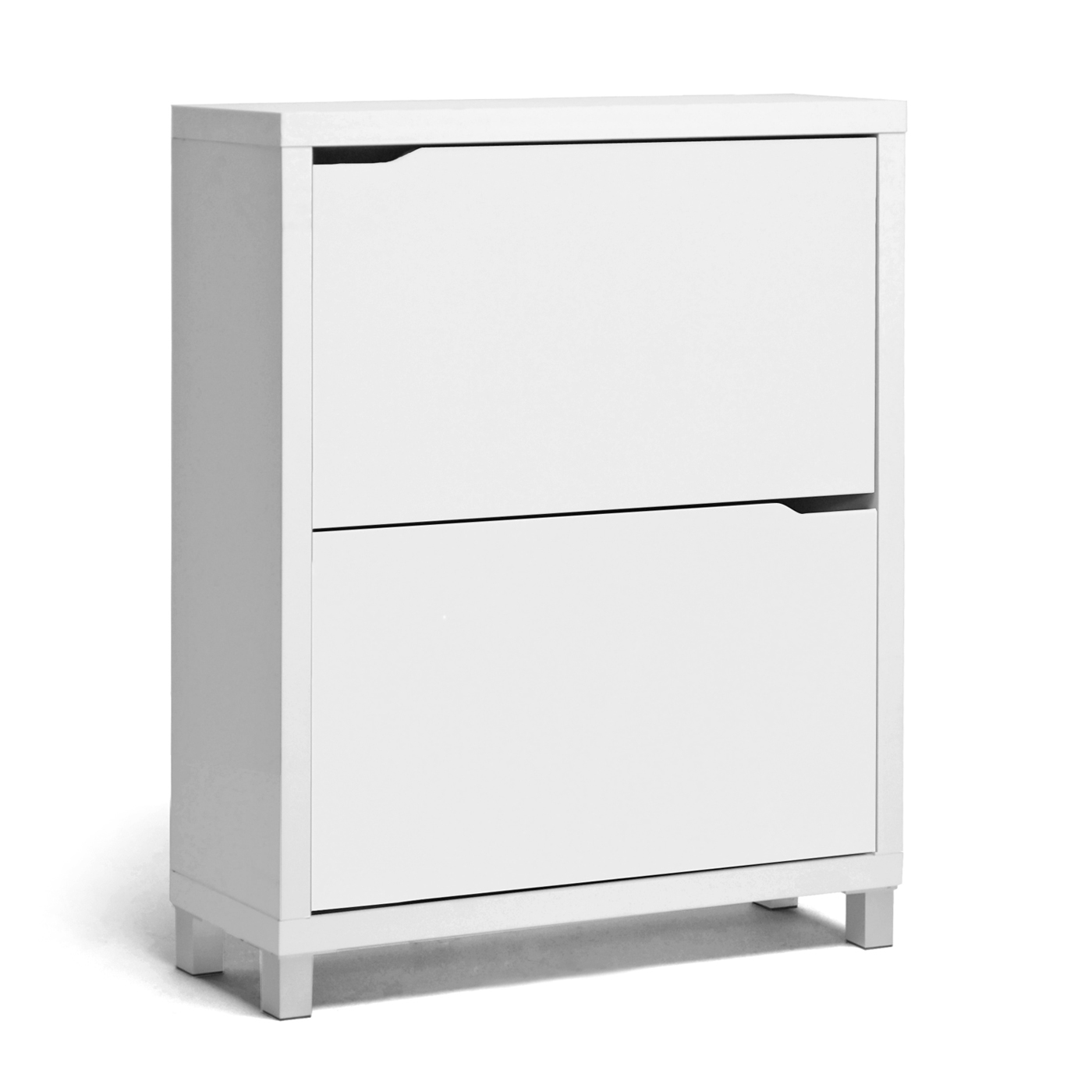 Baxton Studio Simms White Modern Shoe Cabinet | Affordable Modern Design |  Baxton Studio
