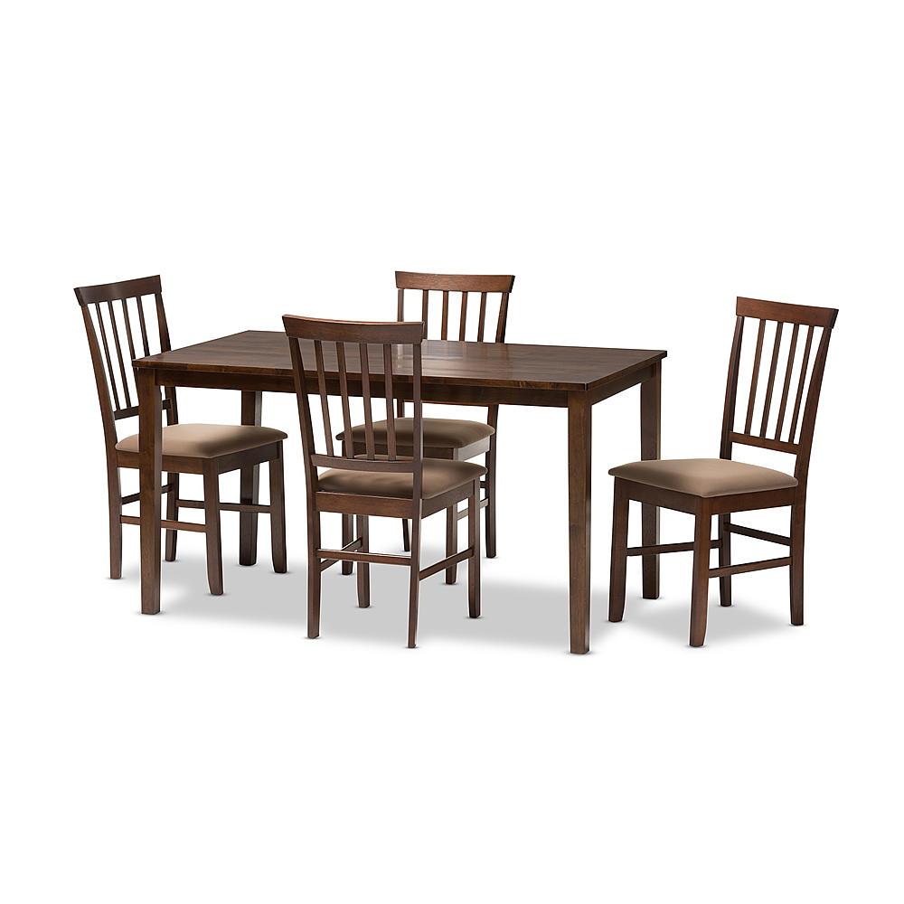 Bon Baxton Studio Tiffany 5 Piece Modern Dining Set In Espresso Brown Wood