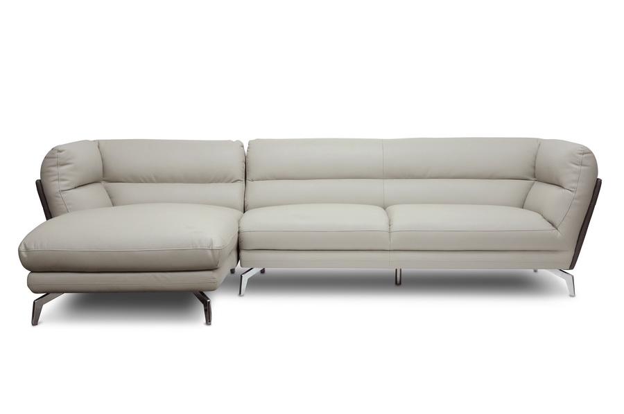 Baxton Studio Quall Gray Modern Sectional Sofa | Affordable Modern ...