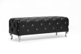 Baxton Studio Stella Crystal Tufted Black Modern Bench Baxton Studio Stella Crystal Tufted Black Modern Bench, BBT5119-black-Bench, Baxton Studio Affordable Modern Design