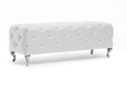 Baxton Studio Stella Crystal Tufted White Modern Bench Baxton Studio Stella Crystal Tufted White Modern Bench, BBT5119-White-Bench, Baxton Studio Affordable Modern Design
