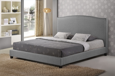 Baxton Studio Aisling Gray Fabric Platform Bed - Queen Size Aisling Gray Fabric Platform Bed - Queen Size, BSBBT6328-Queen-Grey (B-55B), Baxton Studio Affordable Modern Design