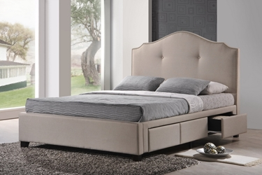 Baxton Studio Armeena Beige Linen Modern Storage Bed with Upholstered Headboard - King Size Armeena Beige Linen Modern Storage Bed with Upholstered Headboard - King Size, BSBBT6329-King-Light Beige-6086-1, Baxton Studio Affordable Modern Design