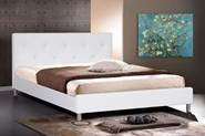 Baxton Studio Barbara White Modern Bed with Crystal Button Tufting - Full Size Baxton Studio Barbara White Modern Bed with Crystal Button Tufting - Full Size, BBT6140-White-Full, Baxton Studio Affordable Modern Design