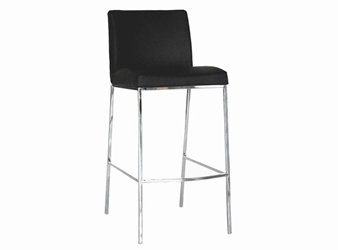 Bar Stool - St. Louis Black Leather Set of 2