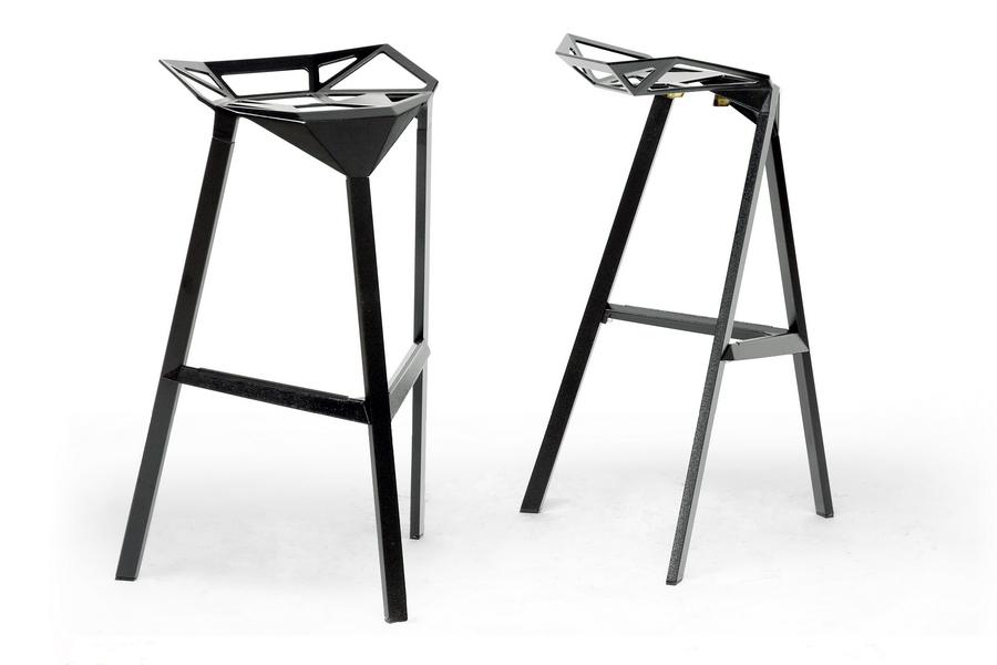 baxton studio kaysa black aluminum modern bar stool set of 2 affordable modern design baxton studio
