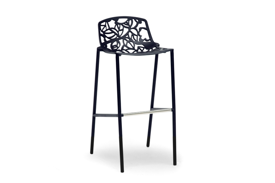 Baxton Studio Demeter Black Metal Modern Bar Stool Baxton Studio Demeter Black Metal Modern Bar Stool, BSBS-794-Black, Baxton Studio Affordable Modern Design