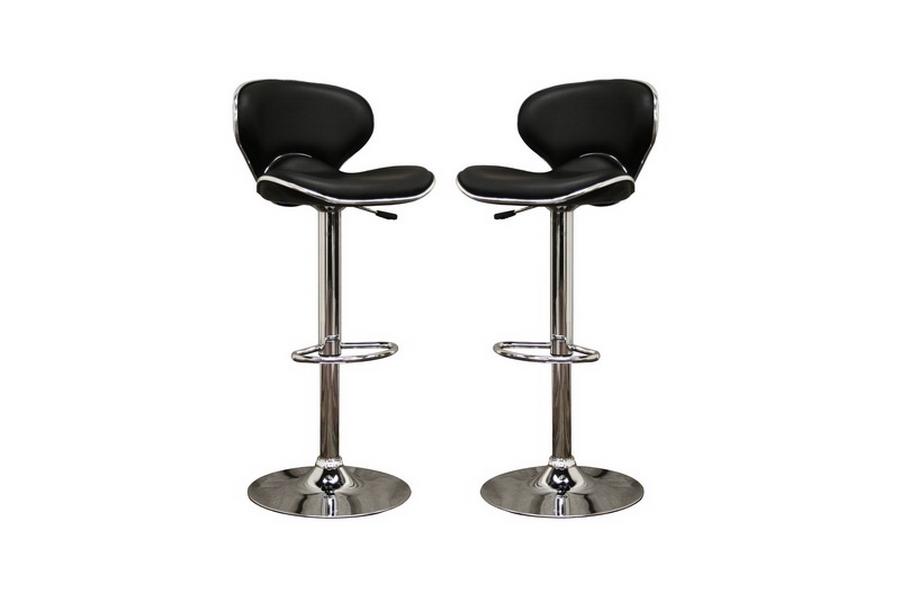 orion black faux leather modern bar stool affordable modern design baxton studio