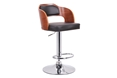 Baxton Studio Sitka Walnut and Black Modern Bar Stool Baxton Studio Sitka Walnut and Black Modern Bar Stool, BSSD-2017-2-walnut/black-PSTL, Baxton Studio Affordable Modern Design