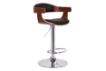 Baxton Studio Garr Walnut and Black Modern Bar Stool Baxton Studio Garr Walnut and Black Modern Bar Stool, BSSD-2178-walnut/black-PSTL, Baxton Studio Affordable Modern Design