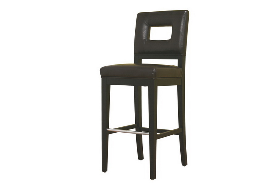 brown leather bar stools. Faustino Brown Leather Bar Height Stool 30 | Affordable Modern Design Baxton Studio Stools