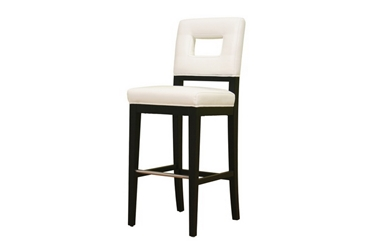 Baxton Studio Faustino Cream Leather Barstool 30 Faustino Cream Leather Barstool 30, BSY-780-155, Baxton Studio Affordable Modern Design
