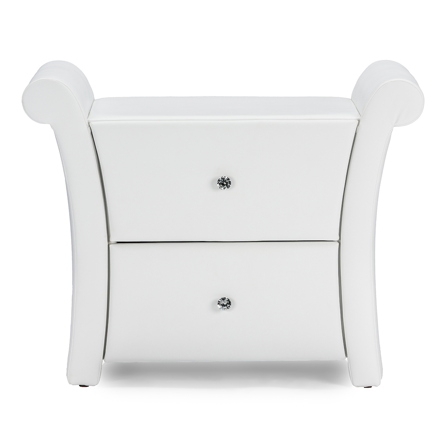 baxton studio victoria matte white pu leather 2 storage drawers nightstand bedside table baxton studio restaurant