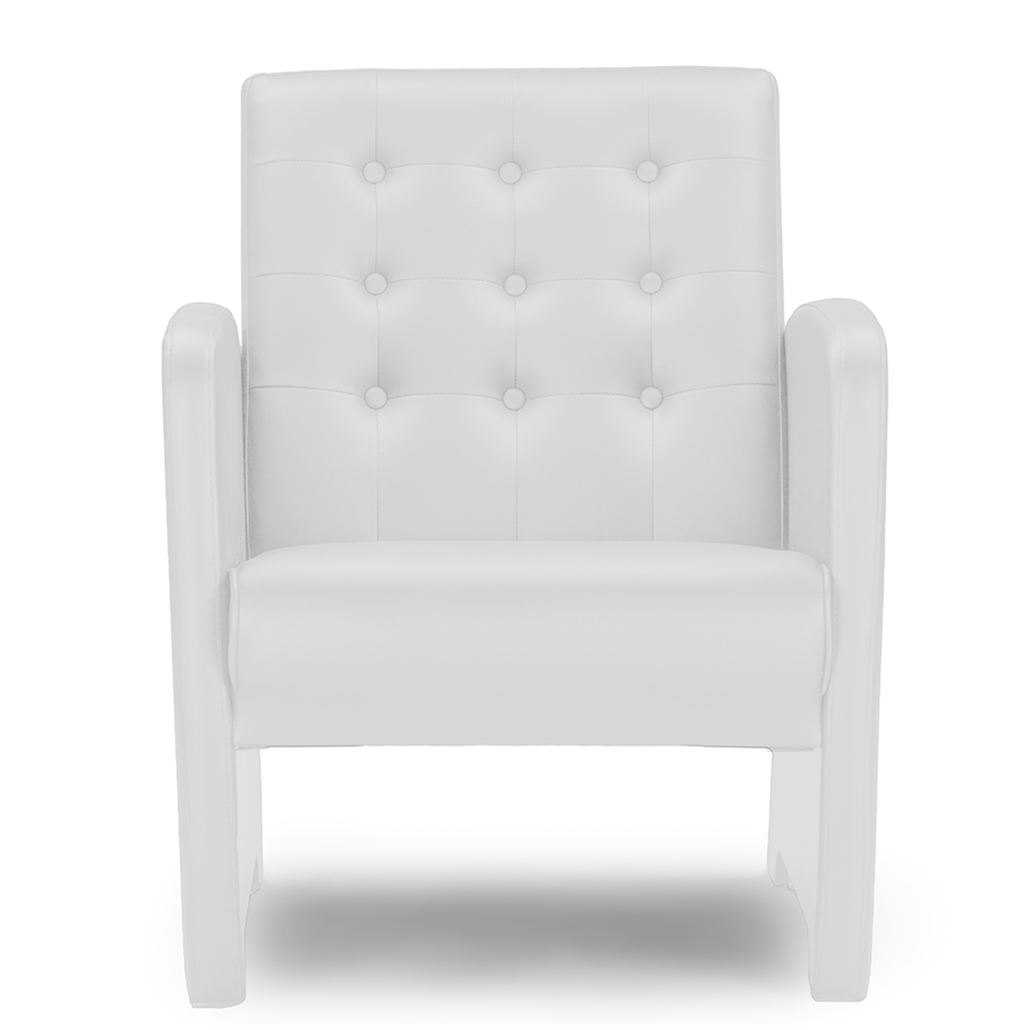 Baxton Studio Jazz White Faux Leather Upholstered Club Chair Baxton Studio  Restaurant Furniture, Hotel Furniture
