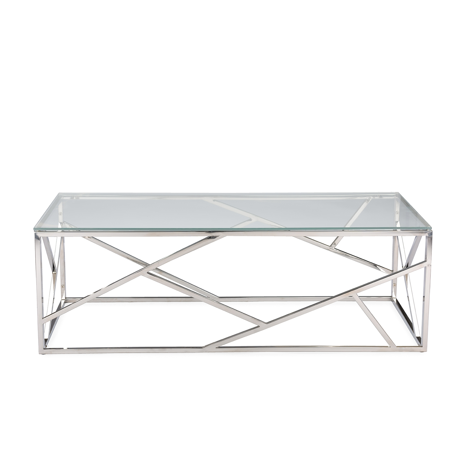 Exceptionnel Baxton Studio Fiona Modern And Contemporary Stainless Steel Coffee Table  With Tempered Glass Top | Affordable Modern Design | Baxton Studio