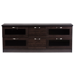 Baxton Studio Adelino 63 Inches Dark Brown Wood TV Cabinet with 4 Glass Doors and 2 Drawers Baxton Studio Unna 70-Inch Dark Brown Wood TV Cabinet with 2 Sliding Doors and Drawer , wholesale furniture, living room furniture, classic entertainment center, modern TV stand
