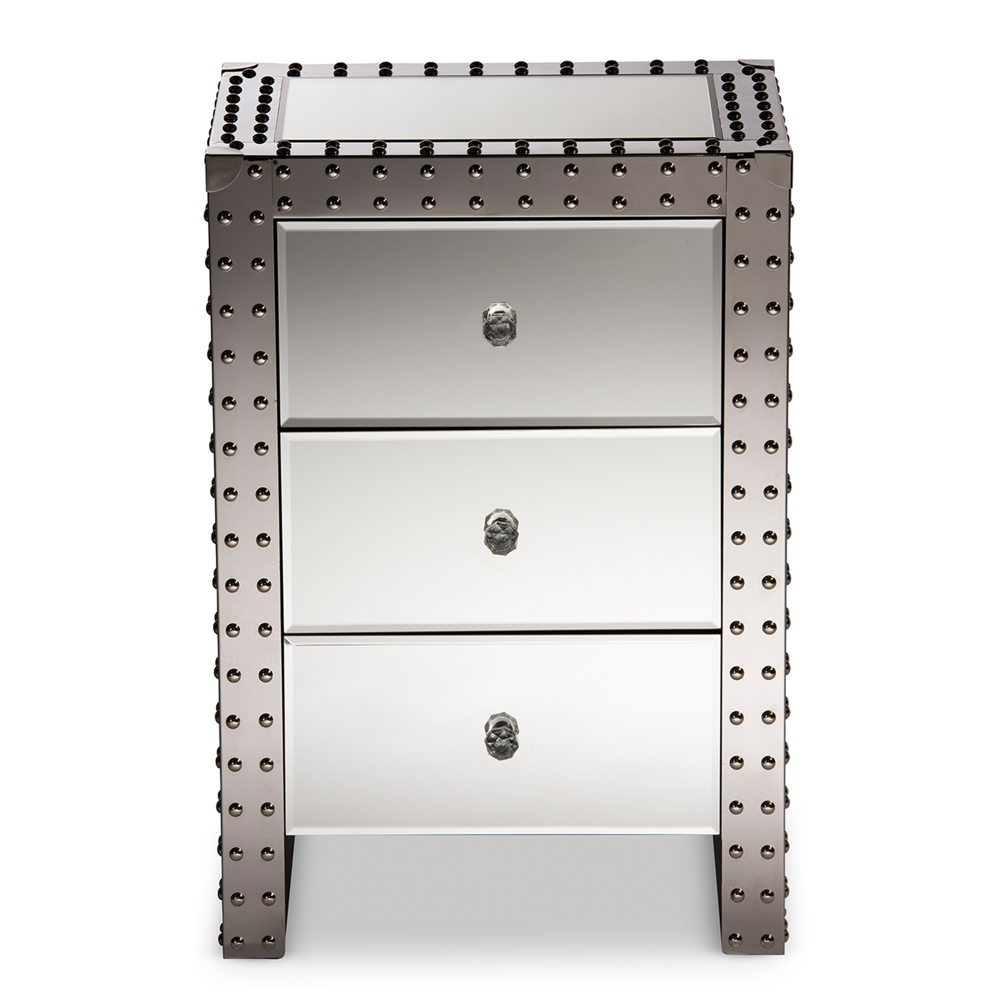 vegas white glass mirrored bedside tables. Contemporary Glass Baxton Studio  Wholesale End Tables Living Room Furniture  To Vegas White Glass Mirrored Bedside Tables I