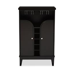 black wine cabinet. Baxton Studio Easton Modern And Contemporary Dark Brown Wood Dry Bar Wine Cabinet Black