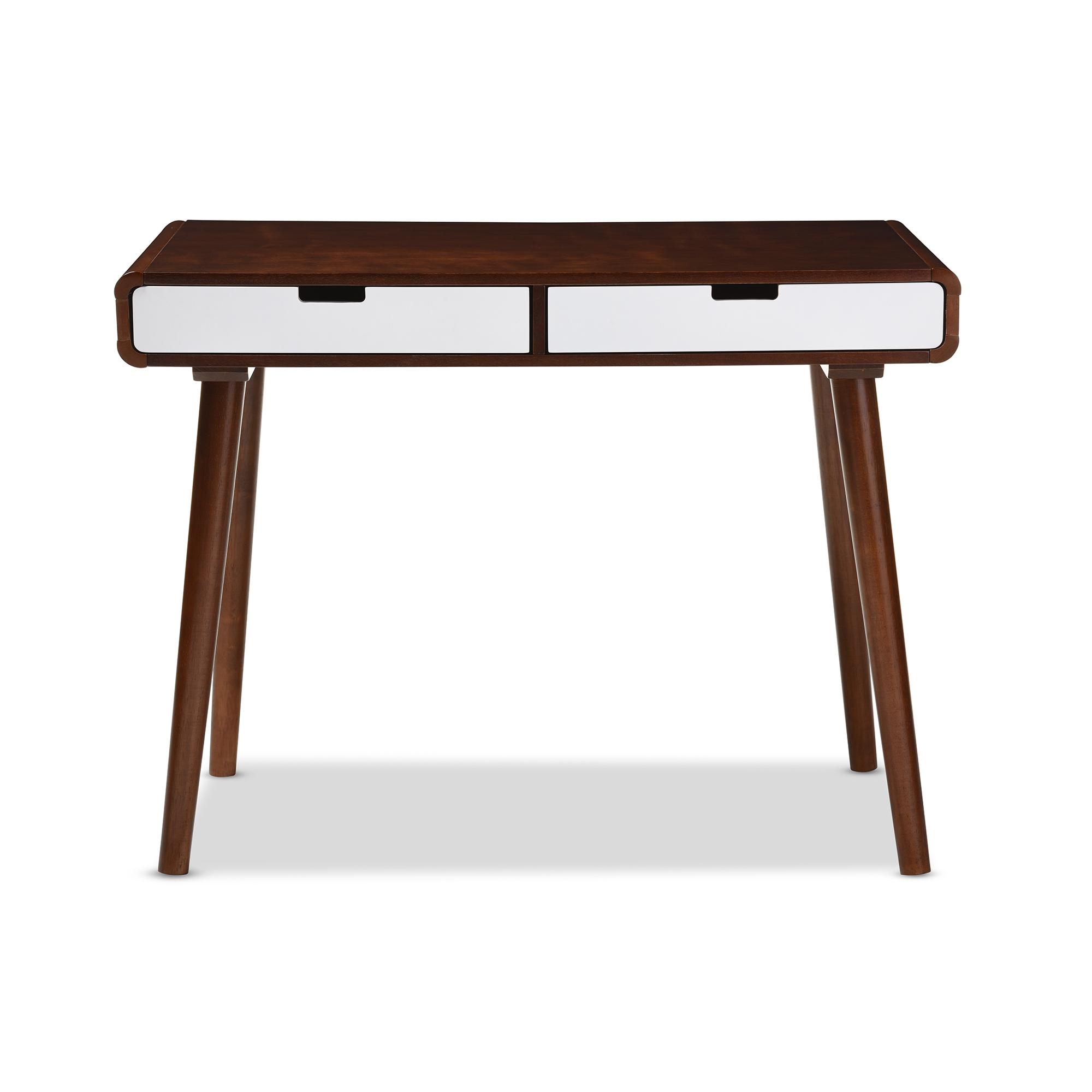 Elburn Dark Brown L Shaped Modern Computer Desk