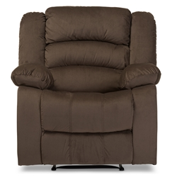 Baxton Studio Hollace Modern and Contemporary Taupe Microsuede 1-Seater Recliner Baxton Studio restaurant furniture, hotel furniture, commercial furniture, wholesale living room furniture, wholesale chairs, classic accent chairs