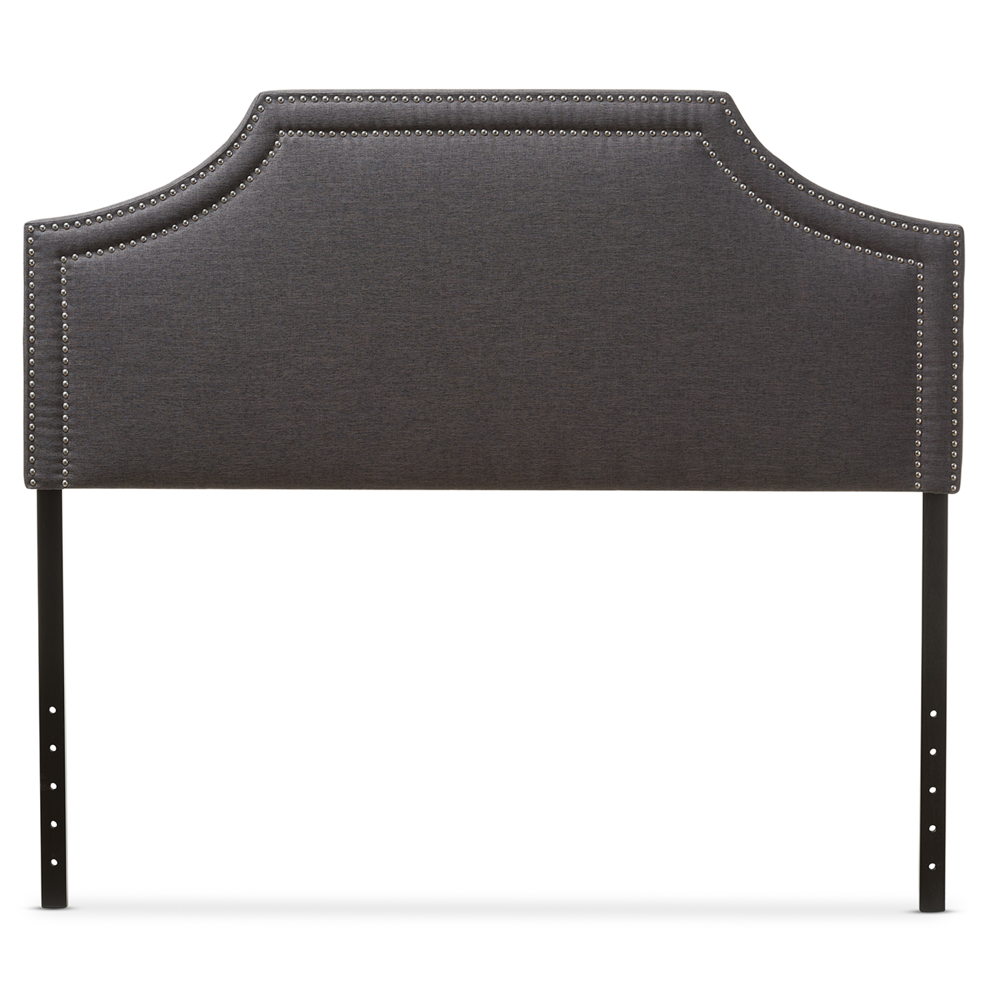 Incroyable Baxton Studio Avignon Modern And Contemporary Dark Grey Fabric Upholstered  Full Size Headboard