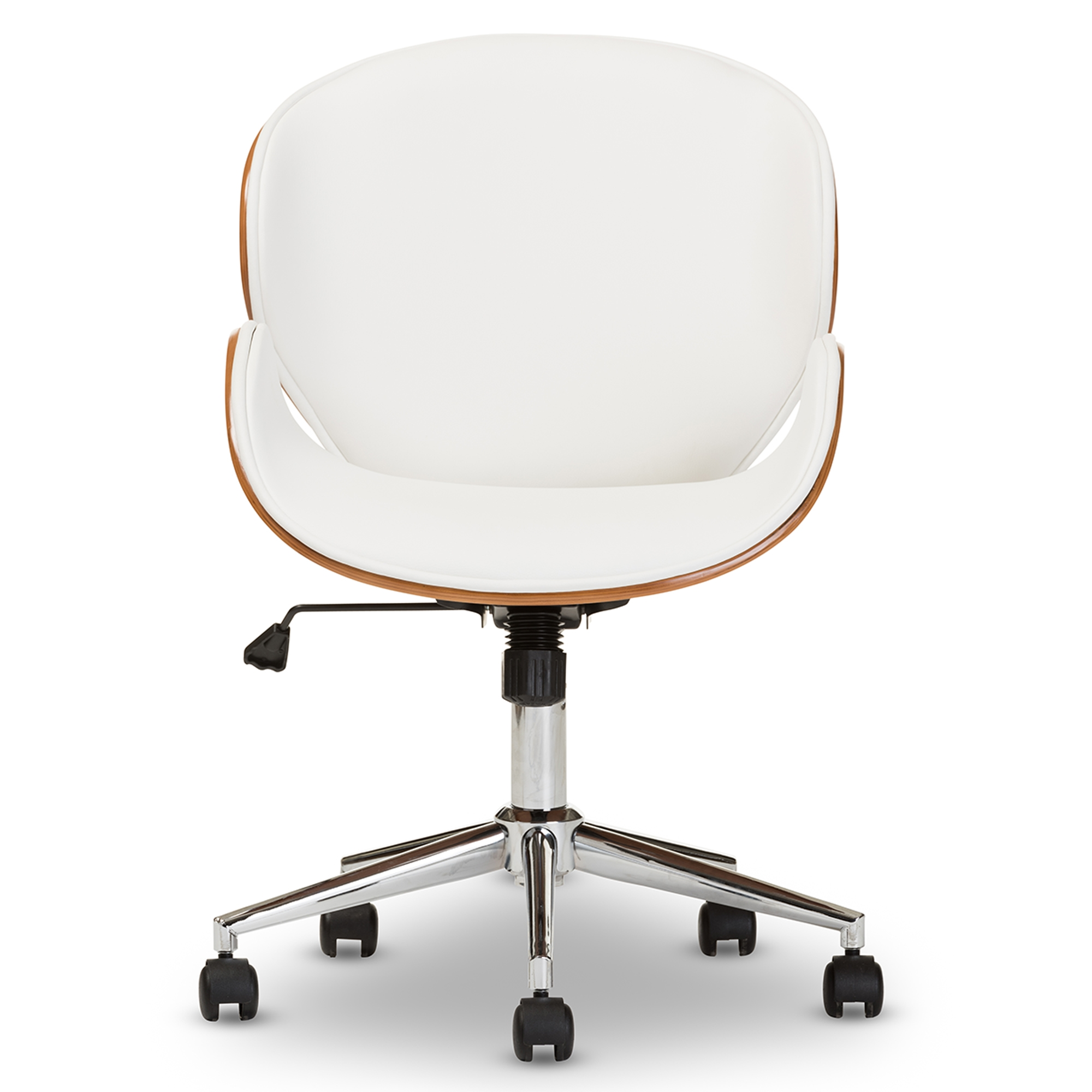 modern white office chair. Baxton Studio Bruce Modern And Contemporary White Walnut Office Chair Modern White Office Chair O