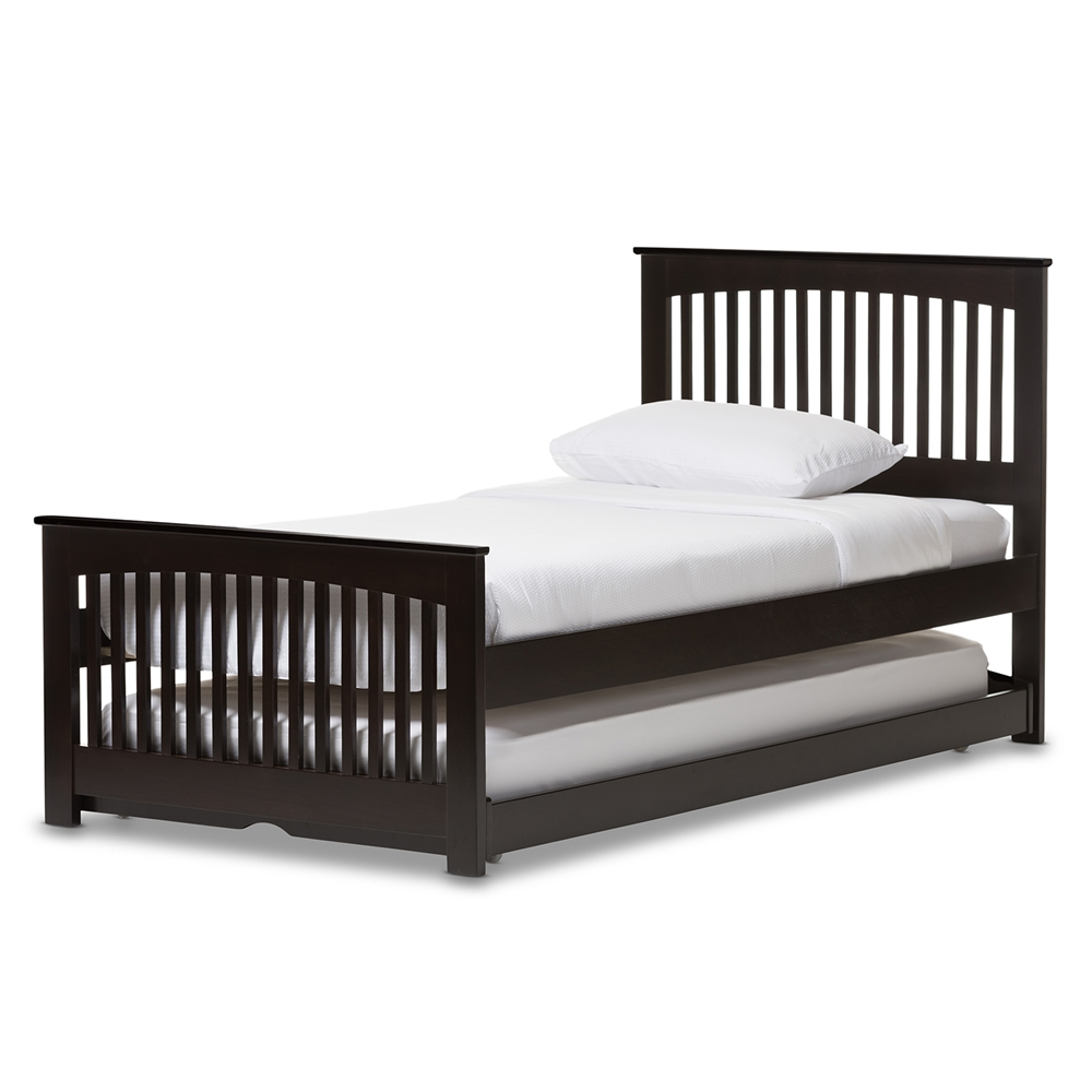 baxton studio wholesale twin size beds wholesale bedroom furniture wholesale furniture - Wooden Trundle Bed Frame