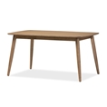 "Baxton Studio Edna Mid-Century Modern French ""Oak"" Light Brown Finishing Wood Dining Table Baxton Studio restaurant furniture, hotel furniture, commercial furniture, wholesale dining room furniture, wholesale tables, classic dining tables"