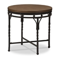 Baxton Studio Austin Vintage Industrial Antique Bronze Round End Table Baxton Studio restaurant furniture, hotel furniture, commercial furniture, wholesale living room furniture, wholesale end tables, classic end tables