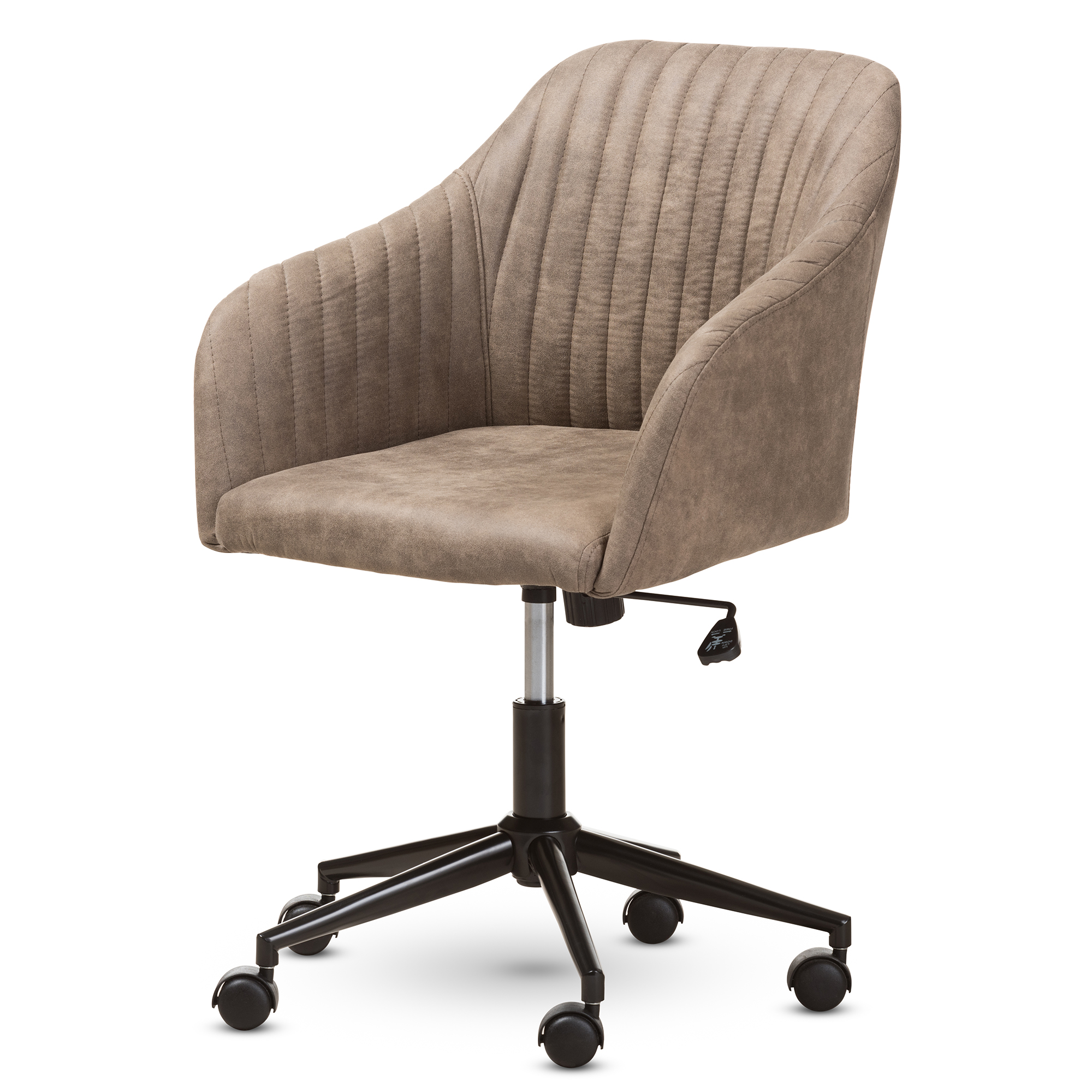 Baxton Studio Maida Mid Century Modern Light Brown Fabric Upholstered Office  Chair Baxton Studio Restaurant