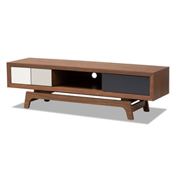 Baxton Studio Svante Mid-Century Modern Multicolor Finished Wood 3-Drawer TV Stand Baxton Studio restaurant furniture, hotel furniture, commercial furniture, wholesale living room furniture, wholesale tv stand, classic tv stands