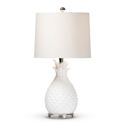 Baxton Studio Flinn Modern and Contemporary White Pineapple Table Lamp Baxton Studio restaurant furniture, hotel furniture, commercial furniture, wholesale lighting, wholesale Table Lamps, classic Table Lamps