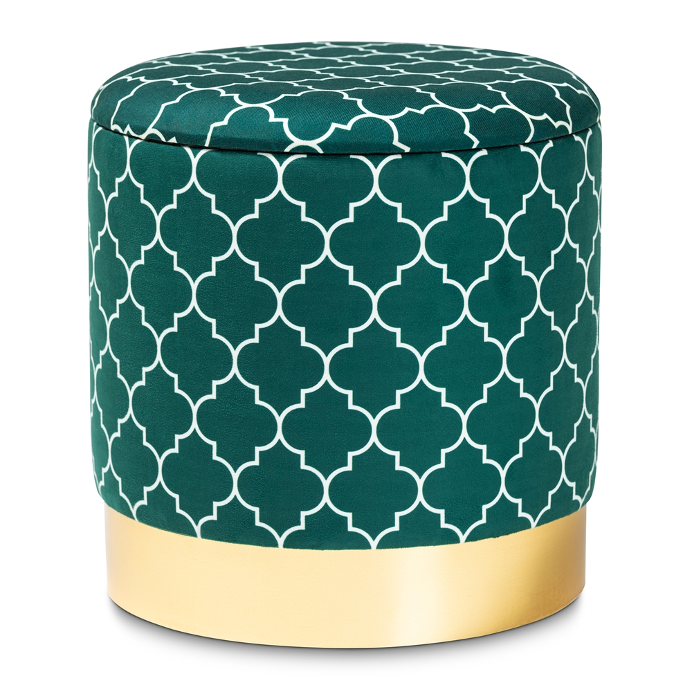 Awesome Baxton Studio Serra Glam And Luxe Teal Green Quatrefoil Bralicious Painted Fabric Chair Ideas Braliciousco