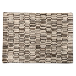 Baxton Studio Kavir Mid-Century Modern Natural Brown Hand-Tufted Wool Area Rug