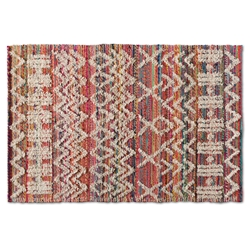 Baxton Studio Graydon Modern and Contemporary Multi-Colored Handwoven Fabric Blend Area Rug
