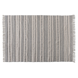 Baxton Studio Jonas Modern and Contemporary Grey and Ivory Handwoven PET Yarn Indoor and Outdoor Area Rug