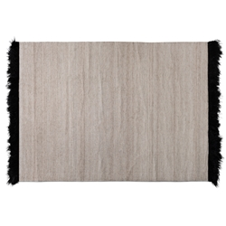 Baxton Studio Dalston Modern and Contemporary Beige and Black Handwoven Wool Blend Area Rug