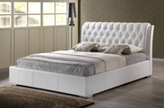 Baxton Studio Bianca White Modern Bed with Tufted Headboard - King Size Baxton Studio Bianca White Modern Bed with Tufted Headboard - King Size, Baxton Studio Affordable Modern Furniture