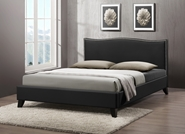 Baxton Studio Battersby Black Modern Bed with Upholstered Headboard - Full Size Battersby Black Modern Bed with Upholstered Headboard - Full Size, BSCF8276-FULL-BLACK, Baxton Studio Affordable Modern Design