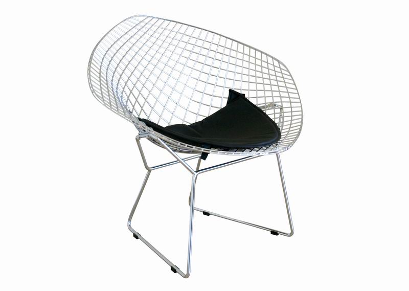 Bertoia Style Wire Diamond Chair