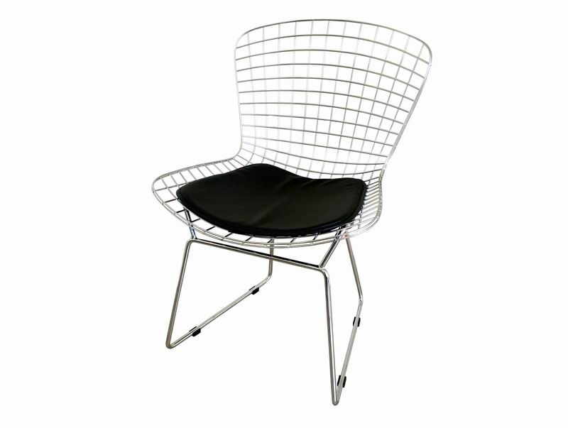 bertoia style wire side chair baxton studio lounge chair