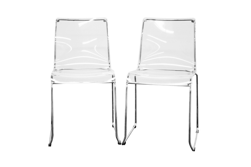 Lino Transparent Clear Acrylic Dining Chair Affordable Modern Design Baxton Studio
