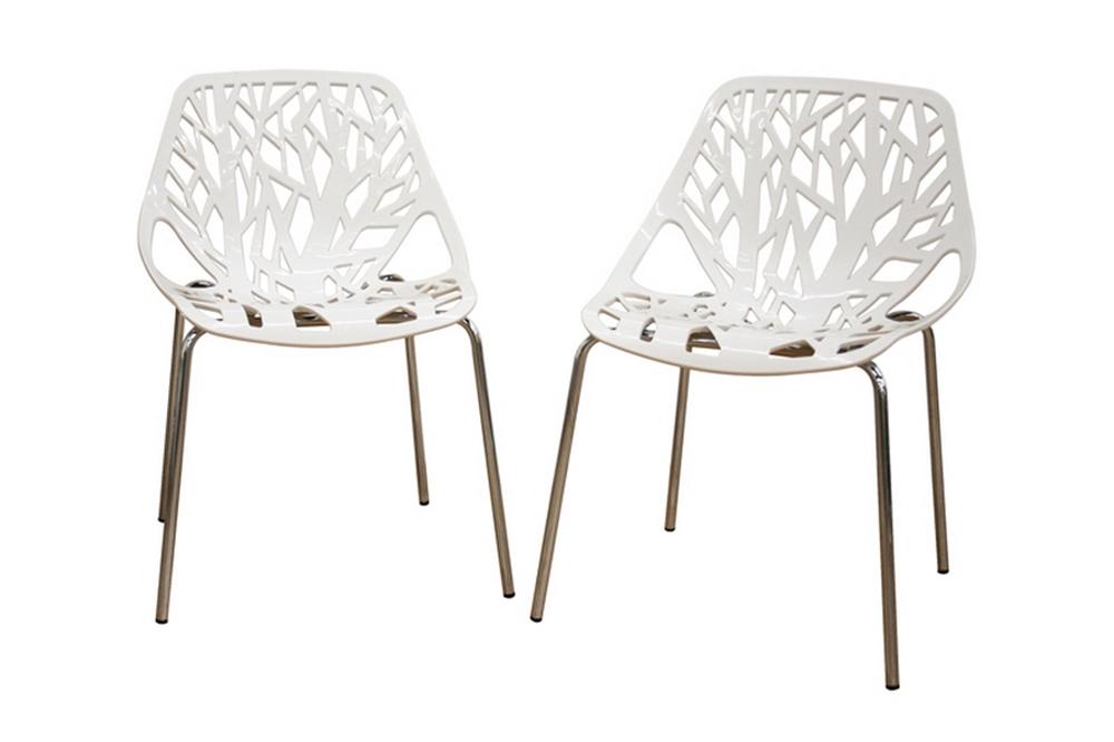 Wondrous Birch Sapling White Plastic Accent Dining Chair Creativecarmelina Interior Chair Design Creativecarmelinacom