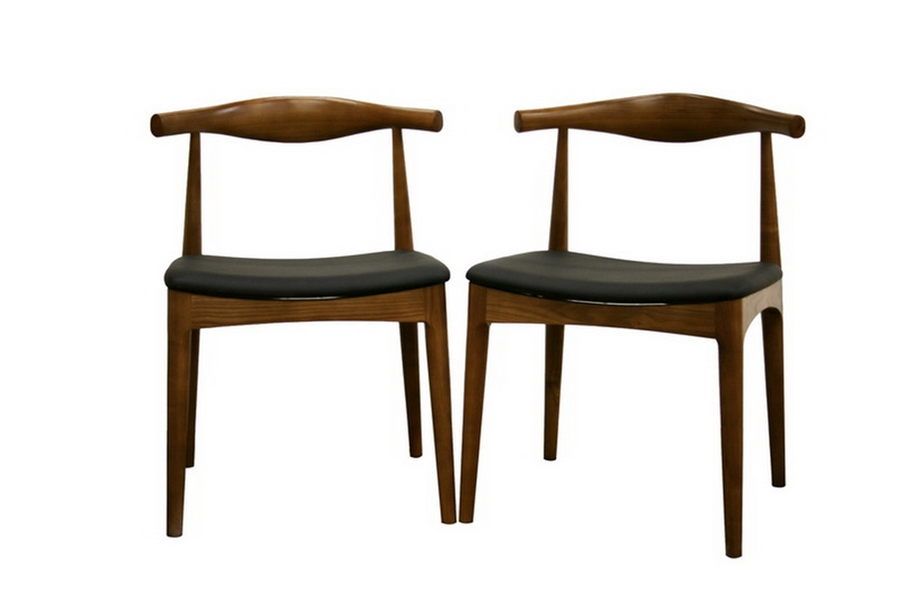 sonore solid wood mid century style accent chair dining chair set of